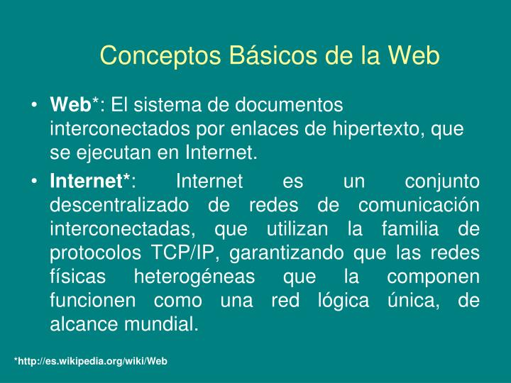Conceptos b sicos de la web