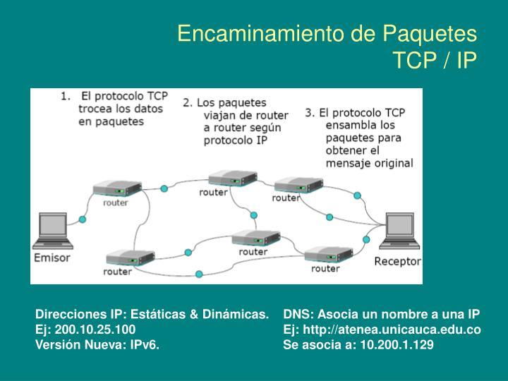 Encaminamiento de Paquetes TCP / IP