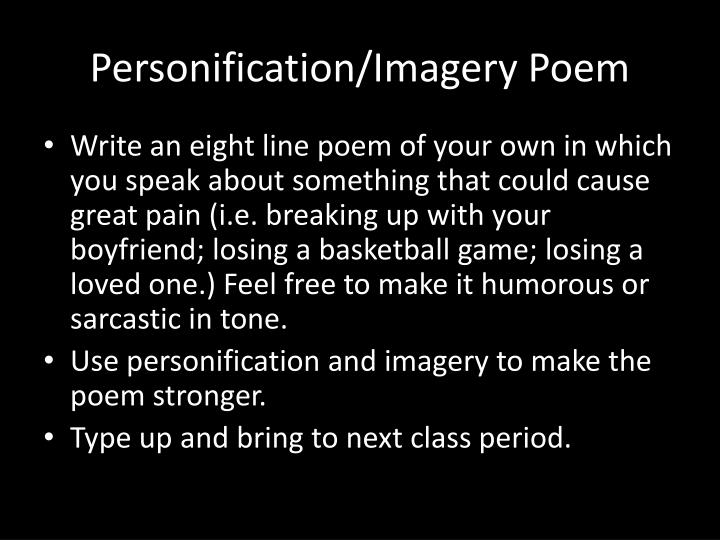 how to use imagery in a poem