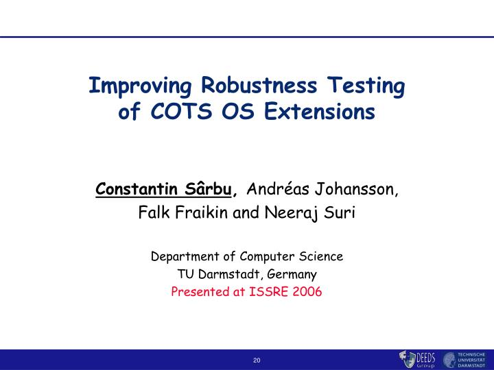 Improving Robustness Testing