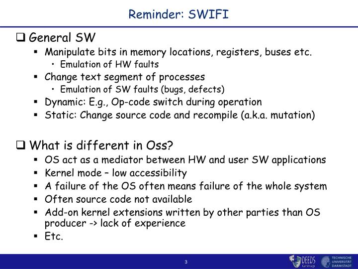 Reminder swifi