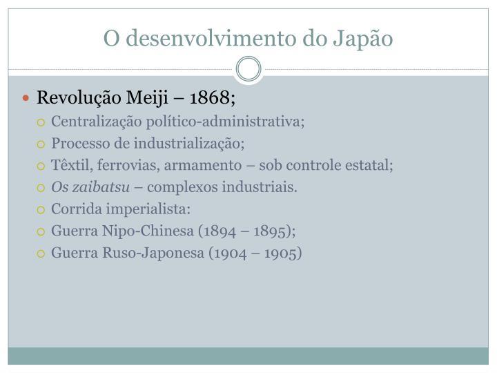 O desenvolvimento do Japão