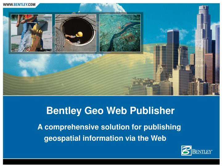 a comprehensive solution for publishing geospatial information via the web n.
