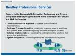 bentley professional services