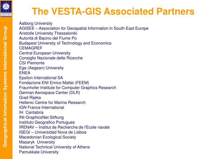 The VESTA-GIS Associated Partners