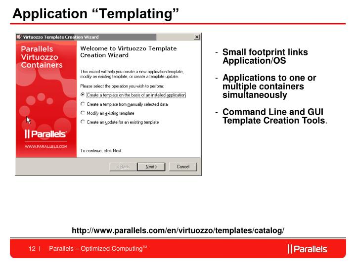 "Application ""Templating"""