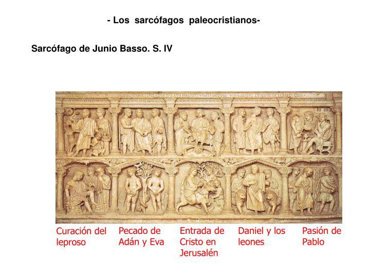 - Los  sarcófagos  paleocristianos-