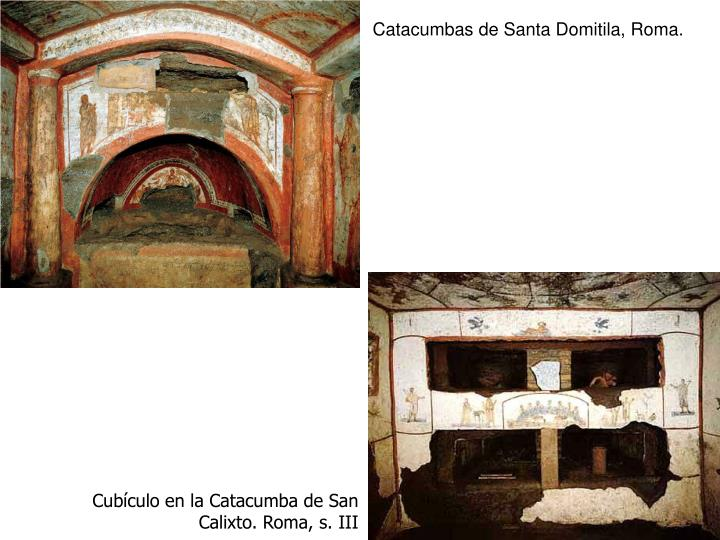 Catacumbas de Santa Domitila, Roma.