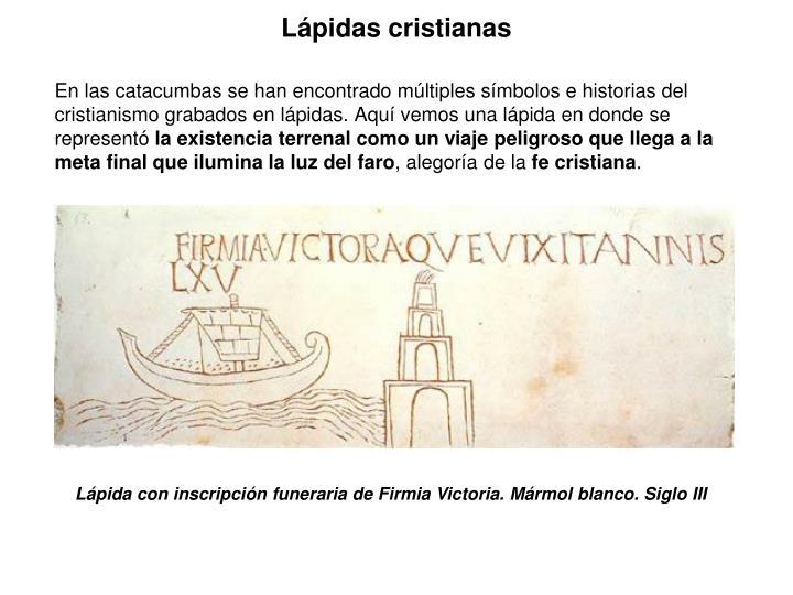 Lápidas cristianas