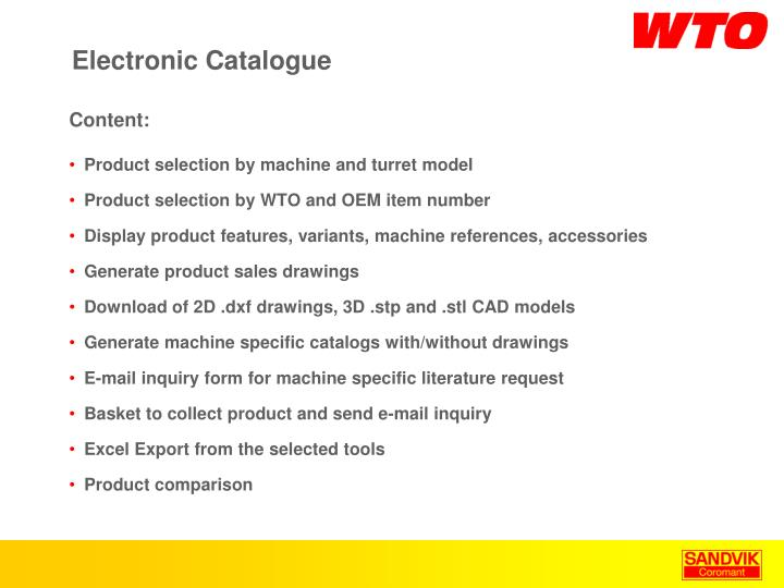 electronic catalogue n.