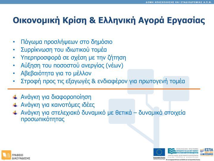 Οικονομική Κρίση & Ελληνική Αγορά Εργασίας