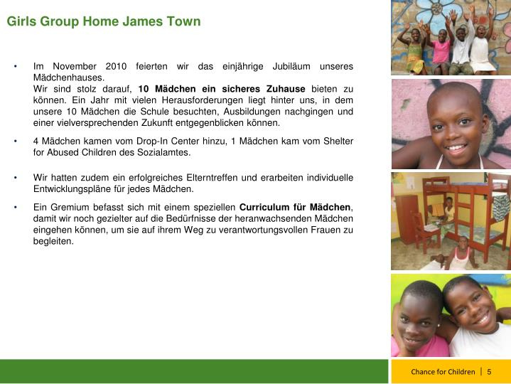 Girls Group Home James Town