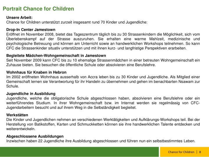 Portrait Chance for Children