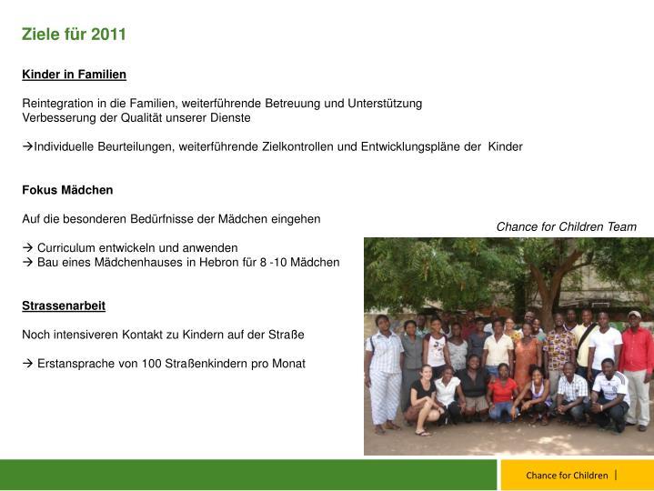 Ziele für 2011