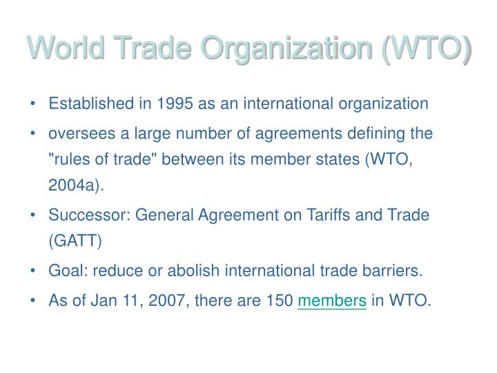 world trade organization and its critics The world trade organisation (wto) is committed to improving free trade amongst its member countries however, its role has been controversial - creating polarised views these are some of the criticisms of the wto free trade benefits developed countries more than developing countries.