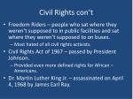 civil rights con t