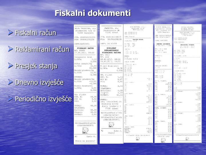 Fiskalni dokumenti