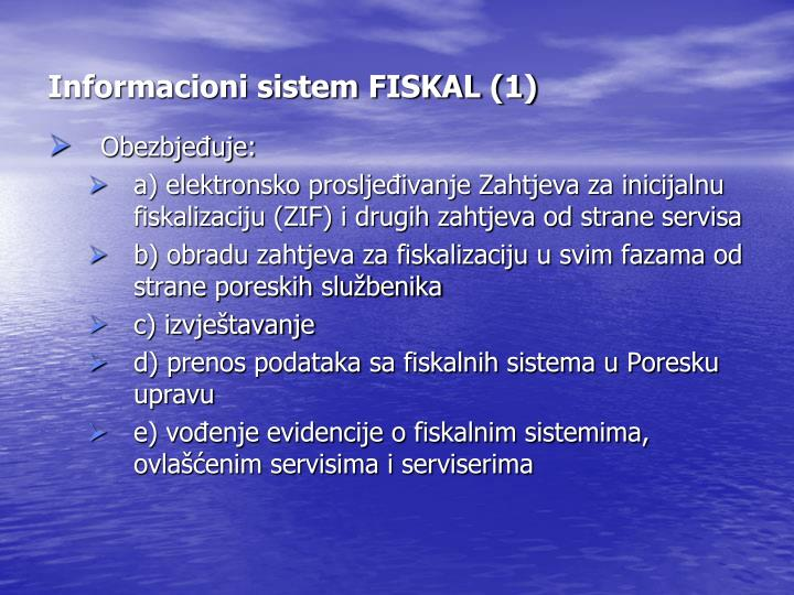 Informacioni sistem FISKAL (1)