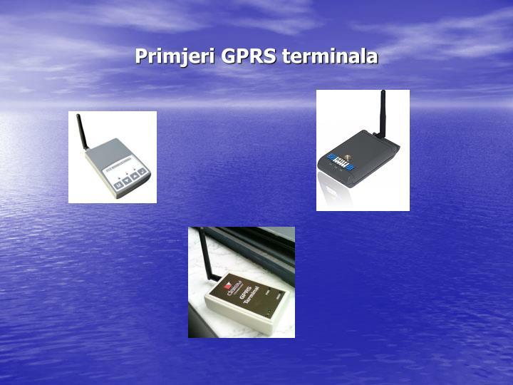 Primjeri GPRS terminala