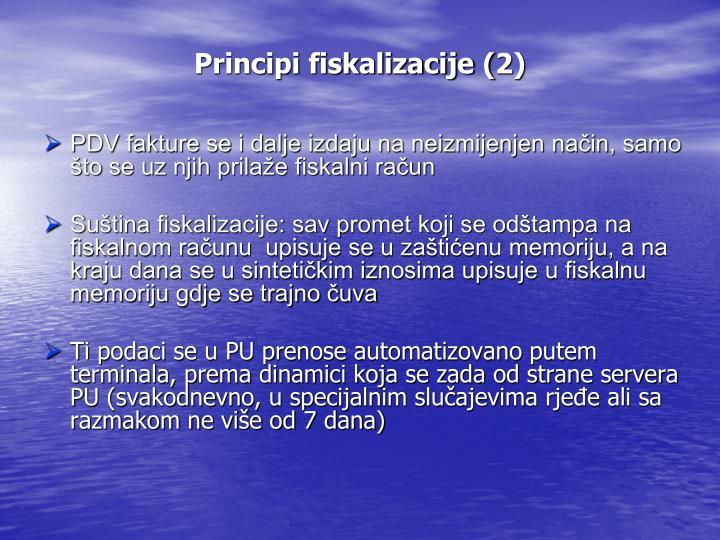 Principi fiskalizacije (2)