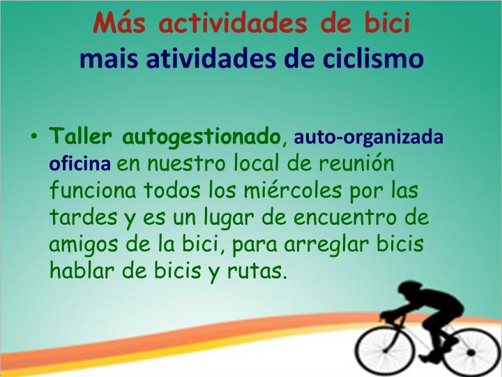 Más actividades de bici