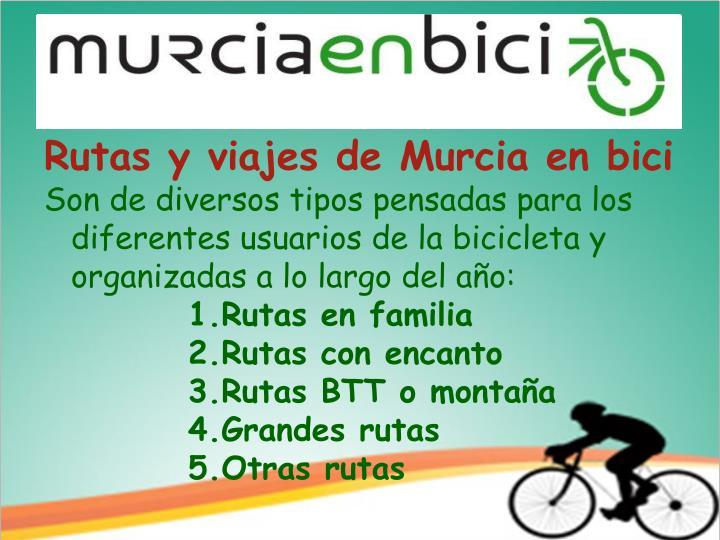 Rutas y viajes de Murcia en bici
