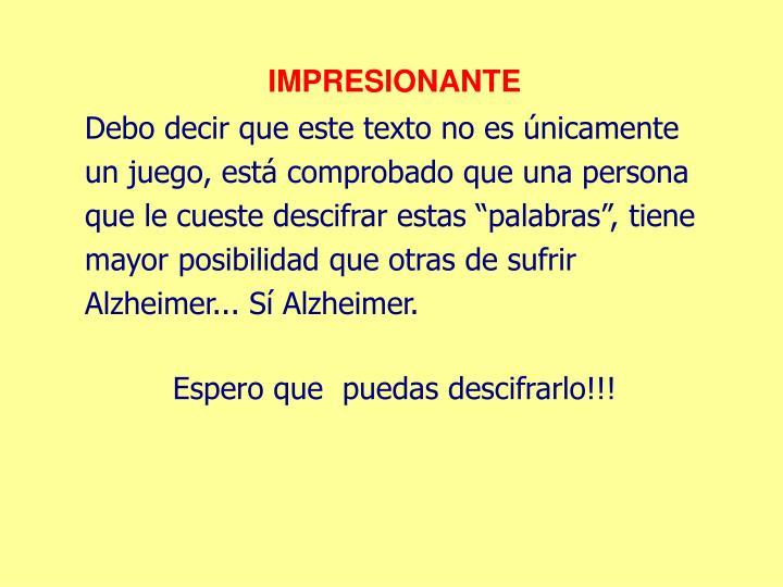 IMPRESIONANTE