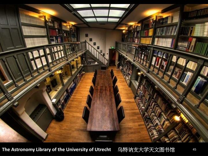 The Astronomy Library of the University of Utrecht