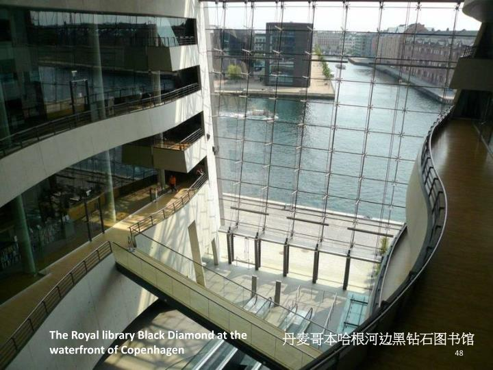 The Royal library Black Diamond at the waterfront of Copenhagen