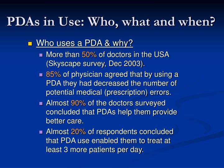 the use of pdas in health care essay The nursing profession, like many other professions, continues to function on a  daily  the use of personal data assistants (pdas) has moved from simply an.