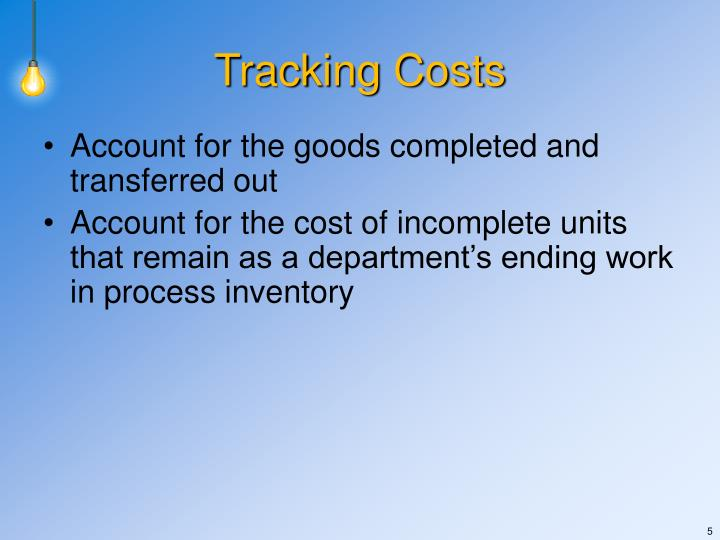 Tracking Costs
