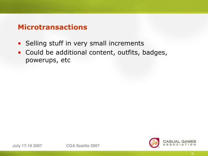 Microtransactions