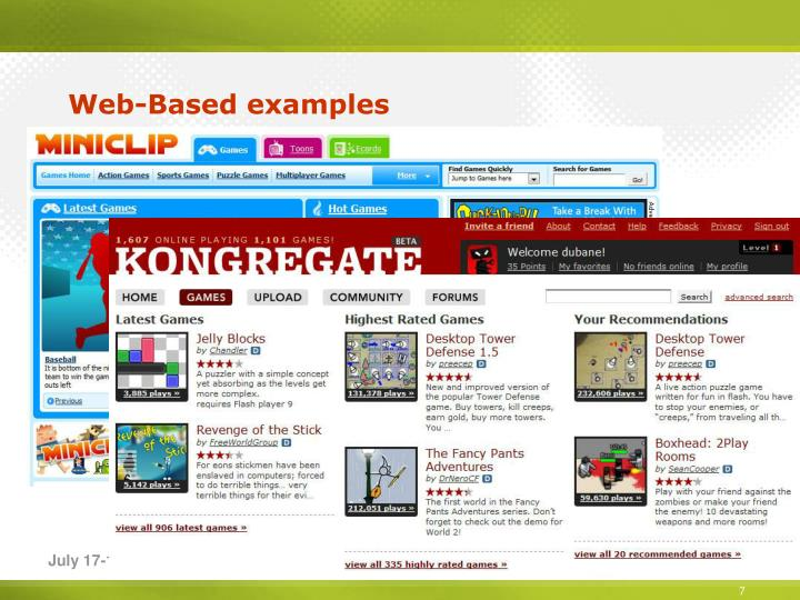 Web-Based examples
