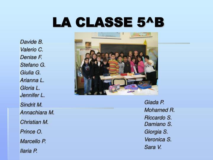 LA CLASSE 5^B