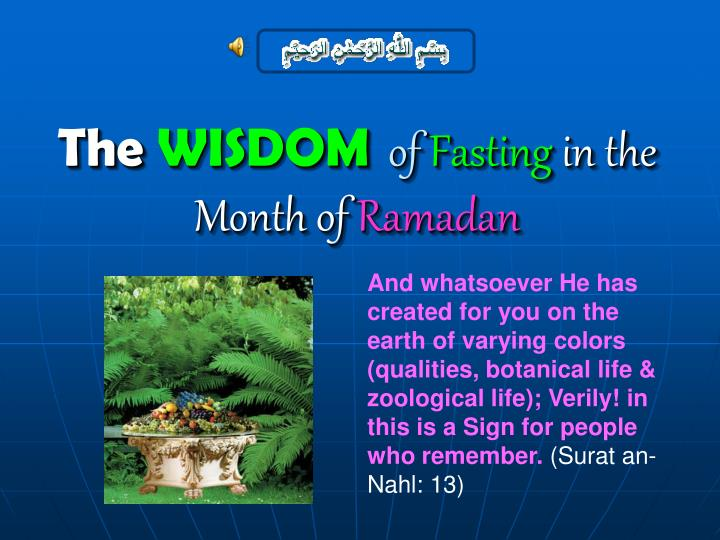 ppt - the wisdom of fasting in the month of ramadan powerpoint, Powerpoint templates