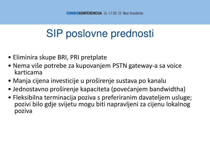 SIP poslovne prednosti