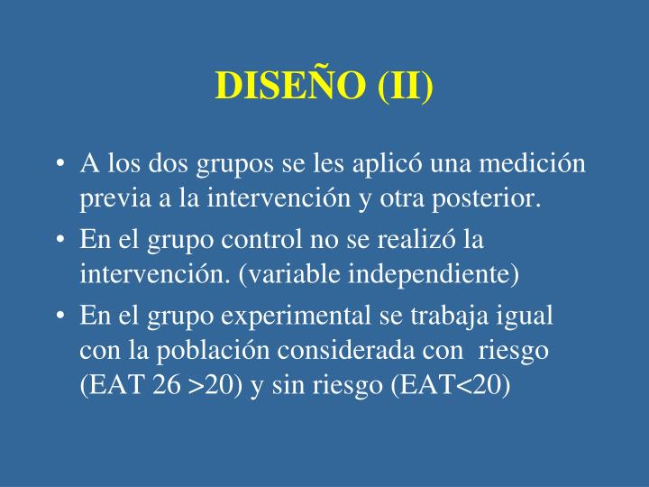DISEÑO (II)