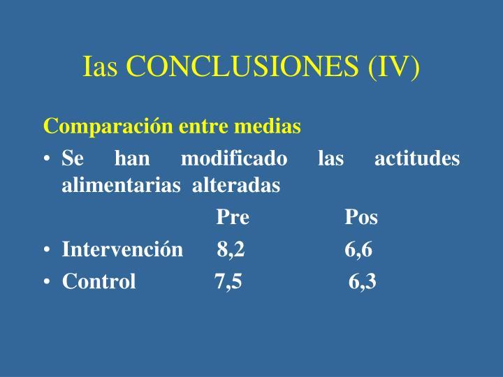 Ias CONCLUSIONES (IV)