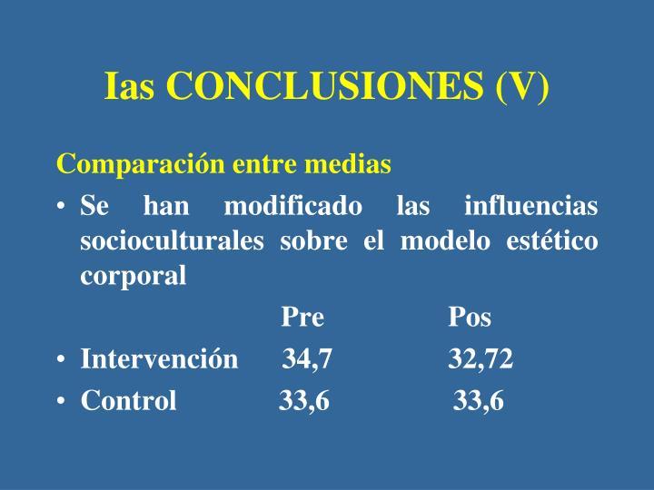Ias CONCLUSIONES (V)