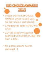 kid choice awards 2012
