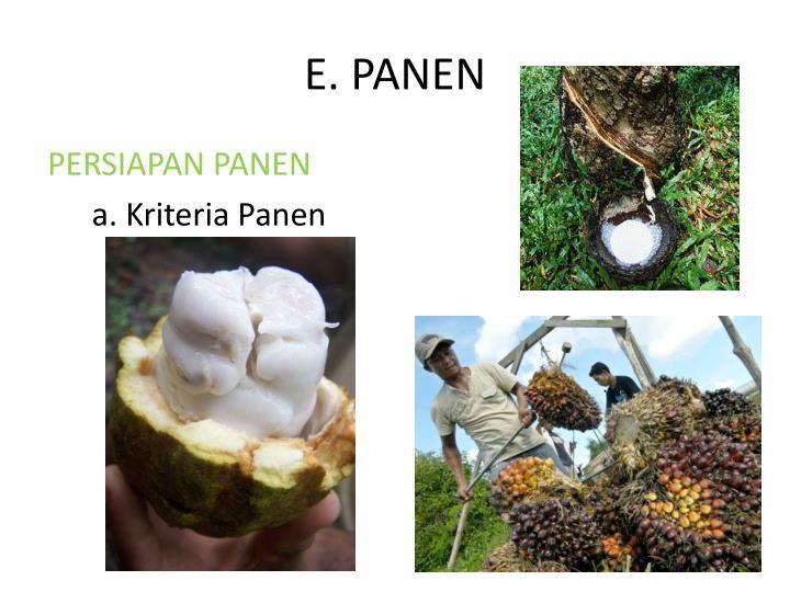 E. PANEN