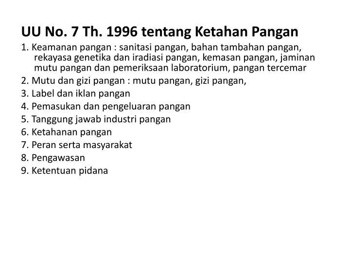 UU No. 7 Th. 1996