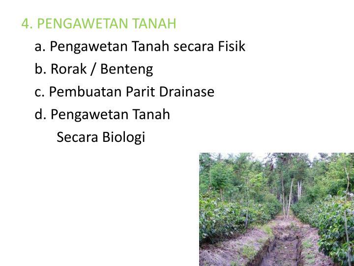 4. PENGAWETAN TANAH