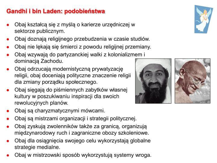 Gandhi i bin Laden: podobieństwa