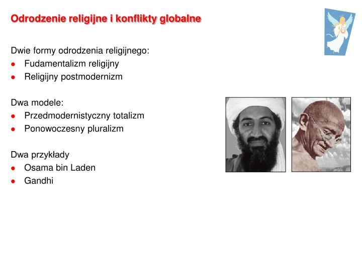 Odrodzenie religijne i konflikty globalne