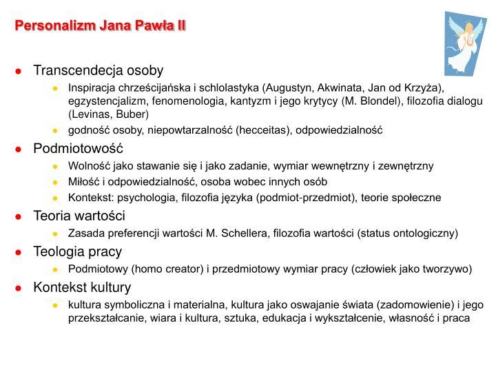 Personalizm Jana Pawła II