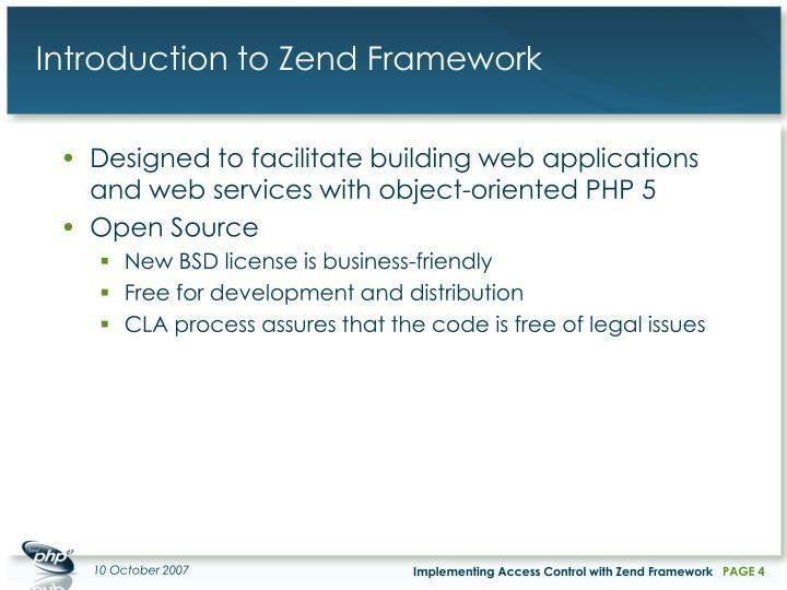 Introduction to Zend Framework