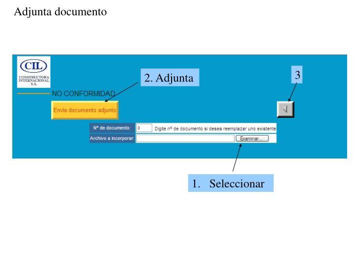 Adjunta documento