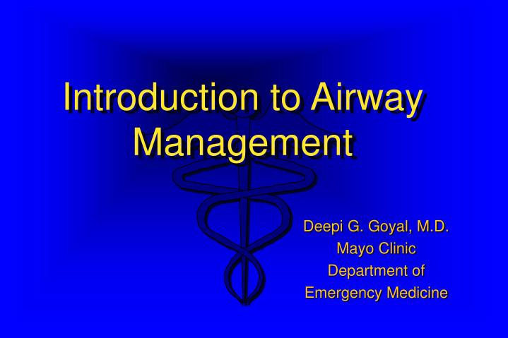 Introduction to Airway