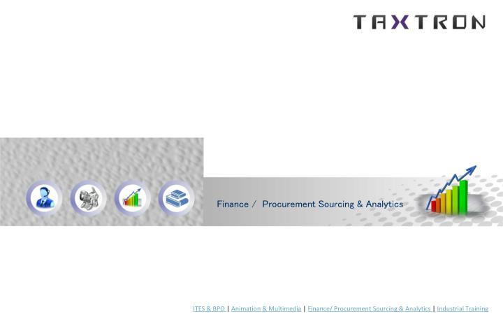 Finance /  Procurement Sourcing & Analytics